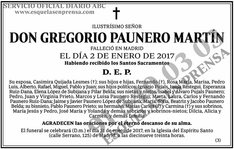 Gregorio Paunero Martín